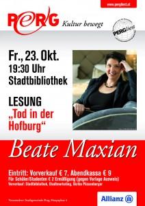 23.10.2015 PERGliest Beate Maxian A1 Plakat